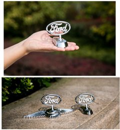 Ford emblems stickers online shopping - Ford Mondeo focus kuga d metal alloy logo Frond Grill Grille Hood emblem badges with sticker