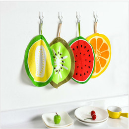 kitchen cloth napkins 2019 - Lovely Fruit Print Hanging Kitchen Hand Towel Microfiber Towels Quick-Dry Cleaning Rag Dish Cloth Wiping Napkin cheap ki