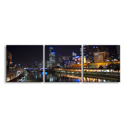 Art Canvas Prints Australia - 3 pieces high-definition print night view canvas prints painting poster and wall art living room picture CSYJ3-009