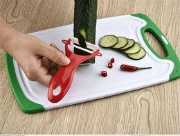 $enCountryForm.capitalKeyWord NZ - Creative Stainless Steel Ceramics Fruit Peeler Parer Cutter Kitchen Tool Salad Potato Slicer Cutter Kitchen Tool DH083
