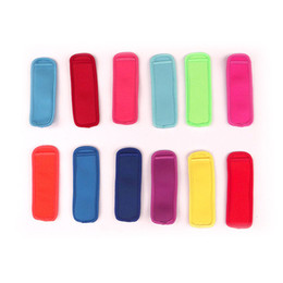 price wholesale ice cream NZ - low prices Popsicle Holders Pop Ice Sleeves Freezer Pop Holders Ice Cream Tools 8x16cm DHL Fedex UPS SF Fast Shipping