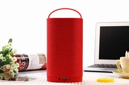 wireless flash drive UK - Outdoor portable speaker with Handle supports Micro SD card   USB flash drive   FM radio   AUX IN functions for outdoor as gift speaker