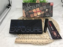 $enCountryForm.capitalKeyWord Canada - Hot Full Exposure Eyeshadow palette+ mascara + double-ended shadow brush 14 must-have neutral shades Eyeshadow Kit real photo high quality