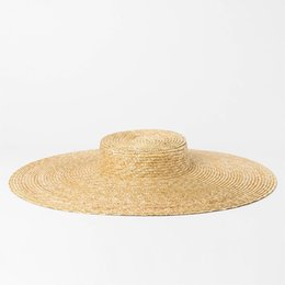 Wide Brim Hat Women Summer Vintage Straw Boater Hat 2018 Beach Floppy Hats  for Ladies Holiday Top Quality 681079 63772555bf5c