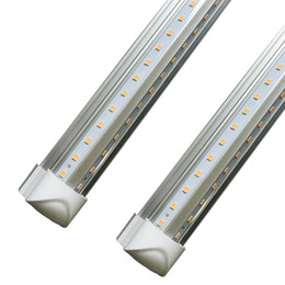 China 8ft led V-Shaped 4ft 5ft 6ft Cooler Door Led Tubes Integrated Led Tubes Double Sides SMD2835 Fluorescent Lights 3000K 4000K 5000K 6000K cheap tube warmer suppliers