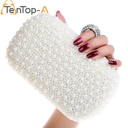 $enCountryForm.capitalKeyWord Canada - TenTop-A Full Side Beaded Bag Best Gorgeous Bridal Bags Women's Imitation Pearls Diamond Finger Ring Beads Party Clutches Purse