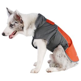 waterproof dog jackets winter 2019 - My Pet 3 Color Waterproof Dog Outdoor Reflective Strip Blue Jacket Winter Warm Pets Clothes Breathable Plus Size Christm