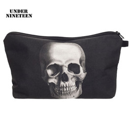 $enCountryForm.capitalKeyWord NZ - Under Nineteen 2017 New Skull Travel Makeup Organizer Bag Neceser Cosmetic Bag Large Capacity Toiletry Wash Bath Storage Pouch