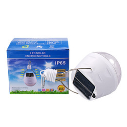 Wholesale Edison2011 New Solar Emergency Bulb Light Control W Portable Solar Light Modes Tent Camping Light for Outdoor Beach
