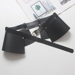 formal removable skirt Australia - TO GLADSELF Women Punk Rock Gothic PU Leather Harness Waist Belt Designer Strap Belt Skirt Street Removable Peplum Cummerbunds S18101807