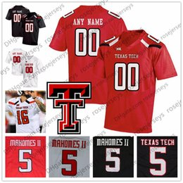 RaideR white online shopping - Custom Texas Tech Red Raiders College Football Black White Stitched Any Name Number Caleb Griffin Mahomes II TTU NCAA Jerseys S XL