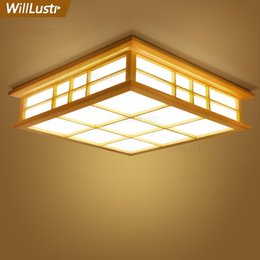 $enCountryForm.capitalKeyWord Australia - Willlustr LED wood ceiling lamp Japan wooden light hotel home dinning room bedroom restaurant acrylic panel ceiling lighting
