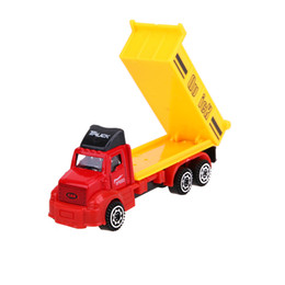 Cars dump online shopping - 6pcs set Mini Diecasts Car Alloy Plastic Construction Vehicle Engineering Car Dump Truck Artificial Model Toys For Boy Kids Gift