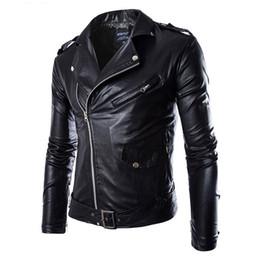 Мужская кожаная куртка мода Марка пальто 2018 Мужчины байкер куртка Homme Jaqueta де Couro Masculina искусственная кожа мужская панк Весте Кир
