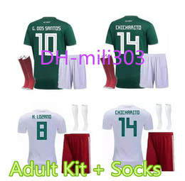 08aa7d95b oribe peralta 19 mexico world cup 2018 long sleeve home jersey  2018 2019 world  cup mexico chicharito home soccer jersey kits 18 19 g.dos santos