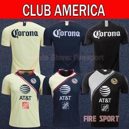 41de6c7a203 Thailand Quality LIGA MX 2019 Club America Home Away Soccer Jerseys 2018  SAMBUEZA P.AGUILAR 18 19 O.Peralta Football Shirts
