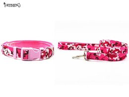 $enCountryForm.capitalKeyWord Australia - Nylon camouflage style collar leash pink color dog collar lead S Ldog lead for small medium-size dog