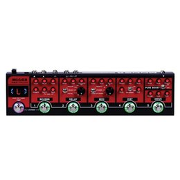Mooer effects online shopping - MOOER Red Truck unit integrated effects pedals in simple boost overdrive distortion modulation delay reverb