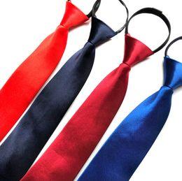 $enCountryForm.capitalKeyWord UK - 8cm Necktie For Men Zipper Big Narrow Lazy Tie Easy To Pull Rope Neckwear Zipper Solid Wedding Business Work