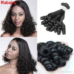 funmi hair bundles 2019 - 9A Grade Peruvian Funmi Boucy Curls 3 4pcs Human Hair Bundles Rabake Brazilian Raw Indian Malaysian Aunty Funmi Curly Ha