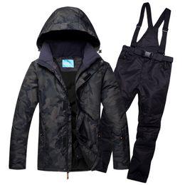 $enCountryForm.capitalKeyWord NZ - Outdoor sports men's ski suits waterproof and windproof winter professional snow suits set warm bib pants large size S-XXXL