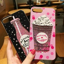 Iced apple online shopping - Glitter Liquid Ice cream Cases Soft TPU Shining Bling Style For IPhone X Plus S Plus