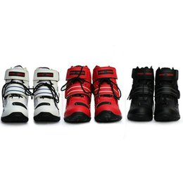 bikers boots UK - Pro biker Motorcycle knight riding ankle Boots waterproof SPEED Motorboats motocross boots Non-slip durable protection shoes