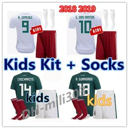 f8ad8d47e 2018 world cup Mexico Soccer Jersey Home Away kids kit + sock18 19  CHICHARITO Camisetas de futbol Hernandez G DOS SANTOS football shirts