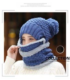 New 3 In 1solid Fashion Ring Unisex Polar Hat Neck Warmer Face Mask Cap Winter Bonnet Beanie Winter Scarf Men Szalik Dziecko # Fine Quality Apparel Accessories