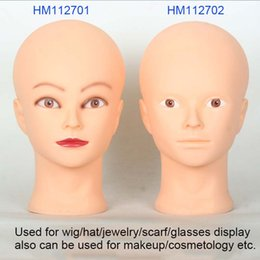 Discount practice hair head - Cosmetic Practice Head Mould Hair Products Display Model Props Cosmetology Hairdressing Doll Women Hairdresser Manikin H
