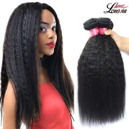 $enCountryForm.capitalKeyWord Canada - Unprocessed Grade 8A Brazalin Hair Afro Kinky Straight Weave Human hair Extensions Brazialin Virgin Human Hair Kinky Straight 3 Bundles