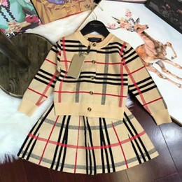 9da1311875170 Deux pièces robes de filles ensemble automne vêtements ensembles Catamite  nouveau modèle vêtement de cou pour enfants costume enfants porter Twinset T
