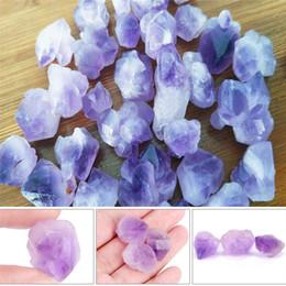 Reiki Healing Wholesalers Australia - 1pc Natural point stone Pendants Pendulum purple Healing Crystal Chakra Reiki Beads random size Approx.2cm 0.79in