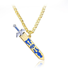 Legend of Zelda Master Sword Extraíble Con Funda Collar Colgante Juego Dorado Joyas Regalo de Alta Calidad en venta