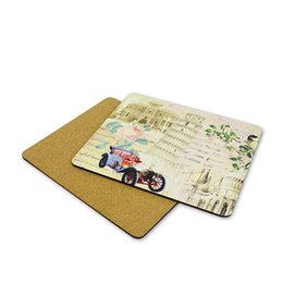 printing sublimation UK - blank mdf placemats for sublimation wooden placemats Rectangle shape hot transfer printing diy custom blank consumable wholesales