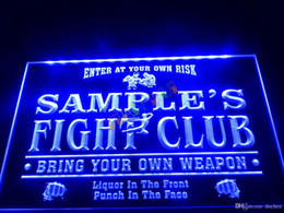 $enCountryForm.capitalKeyWord Canada - DZ040-b Name Personalized Custom Fight Club Bring Your Weapon Bar Beer Neon Sign.JPG