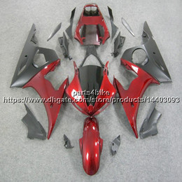 yamaha r6s fairings NZ - 23colors+5Gifts Body Kit motorcycle panels for yamaha R6S 2006 2007 2008 2009 all pure RED black Fairing R6 2003 2005 R6S 06-09