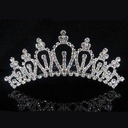 Hohe Quailty Hochzeit Splitter Kristall Diademe Mädchen Kopf Stück Geburtstag Party Strass Shiny Diamant Prinzessin Kronen Kinder Zubehör F789