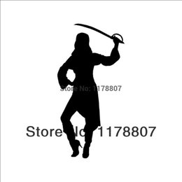 $enCountryForm.capitalKeyWord Canada - HotMeiNi Wholesale 20pcs lot GIRL PIRATE Sticker Cute for Car Window Vinyl Decal Treasure Woman Sexy Sword Steal Fun Gift