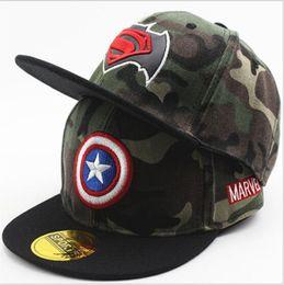 Kids Camouflage Baseball Caps Hip Hop Cap Children Boys Girls Flat Hats  Snapback boys hip hop baseball cap on sale 18f1779ec757
