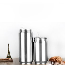 Chinese  Stainless Steel Cola Cans Vacuum Thermos Leakproof Thermos Mug Water Bottles Large Capacity Vacuum Cans OOA4577 manufacturers