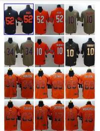 8109632a2 Custom Chicago  52 khalil Mack jersey Mens 10 Mitchell Trubisky 34 Payton  24 Howard 23 Fuller Gray Orange Men WOMEN Embroidered Logo jerseys