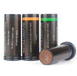 $enCountryForm.capitalKeyWord NZ - 3pcs lipstick design outdoor camouflage oil face paint pen 3 colors CS jungle wild combat painting case Tubular tactical equipment