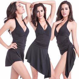 2504a907536ca 2017 Women Beachwear One Piece Swimsuit Skirt Halter Strappy Swimwear  Summer Bathing Suits Ladies Swim Wear Long Beach Dress XL