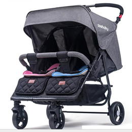 Chinese  75cm seebaby twins baby strollers can sit lying baby cart double stroller Twins wheelbarrows carriage manufacturers
