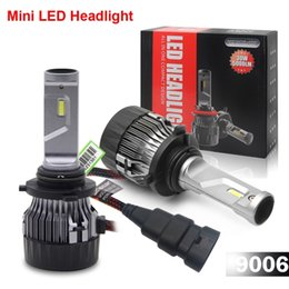 $enCountryForm.capitalKeyWord NZ - 1 Set 9006 HB4 60W 5000LM Mini LED Headlight Small Volume Size CSP Chips Turbo Fan Pure White 6000K Driving Front Lamps Bulbs Easy Install