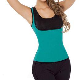 c425f3f99c9 Wholesale- XS - 5XL blue Plus size waist corset sweat enhancing thermal sexy  vest waist cincher waist trainer hot shaper sauna shirt E87