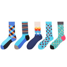 $enCountryForm.capitalKeyWord Canada - PEONFLY Personality cotton United States Originality funny men high happy Small Squares Striped hot air balloon Socks