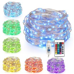 led string remote Australia - 16 Color 5M 50leds LED String Lights USB Powered Multi Color Changing Led String Waterproof Light With Remote Control Decorative