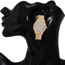 Watches Gifts For Girlfriend NZ - Women Girls Watch Shape Stud Earring Rhinestone Luxury Designer Earring Gift for Love Girlfriend Brand Jewelry with Fast Shipping